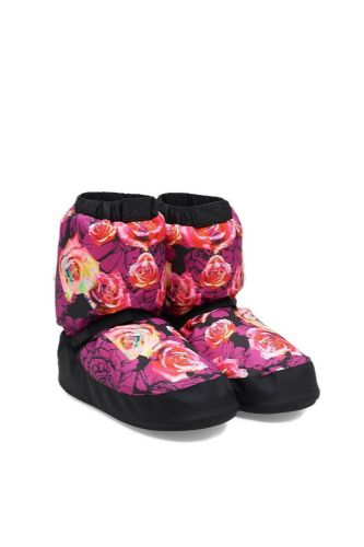 BLOCH Adult Women's Print Warm Up Dance Boots Booties Rose Lavender Floral